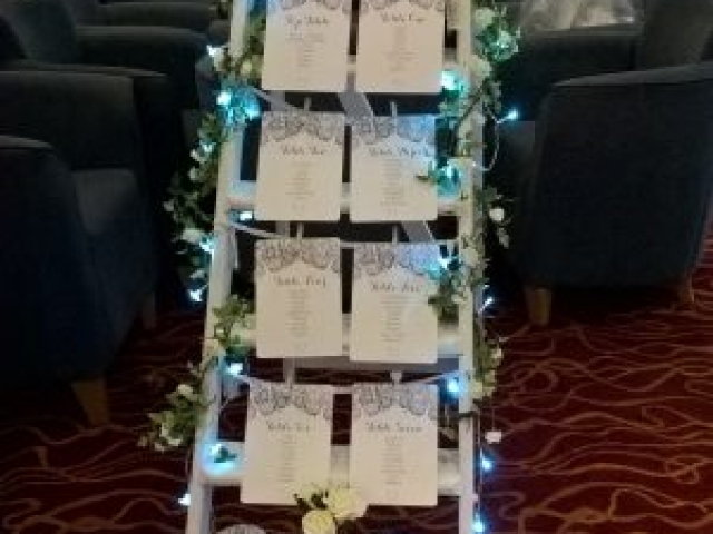 Wedding Ladder Table Plan