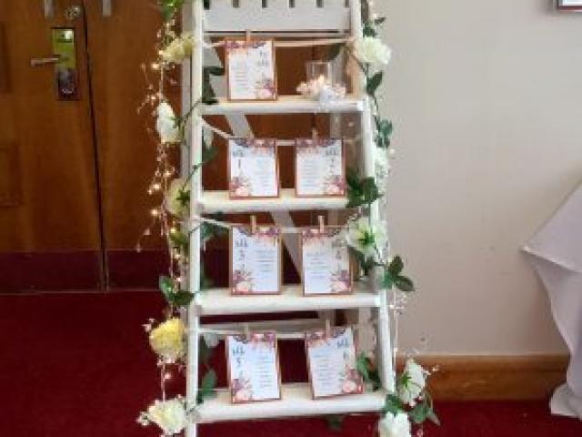 Wedding Ladder Table Plan