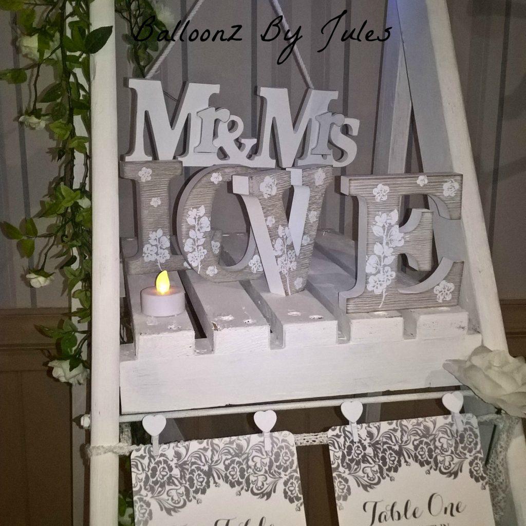 Wedding Laddder Table Plan