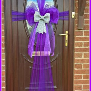 Purple and Silver Door Wrap