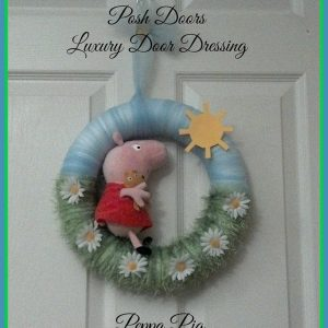Peppa Pig door wreath