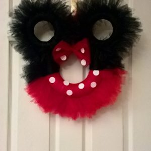 Minnie Mouse Door Wreath