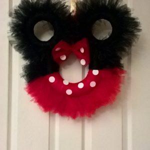 Minnie Mouse Door Wreath