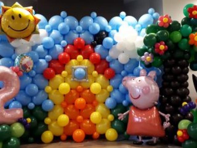 Peppa Pig Balloon Tableau