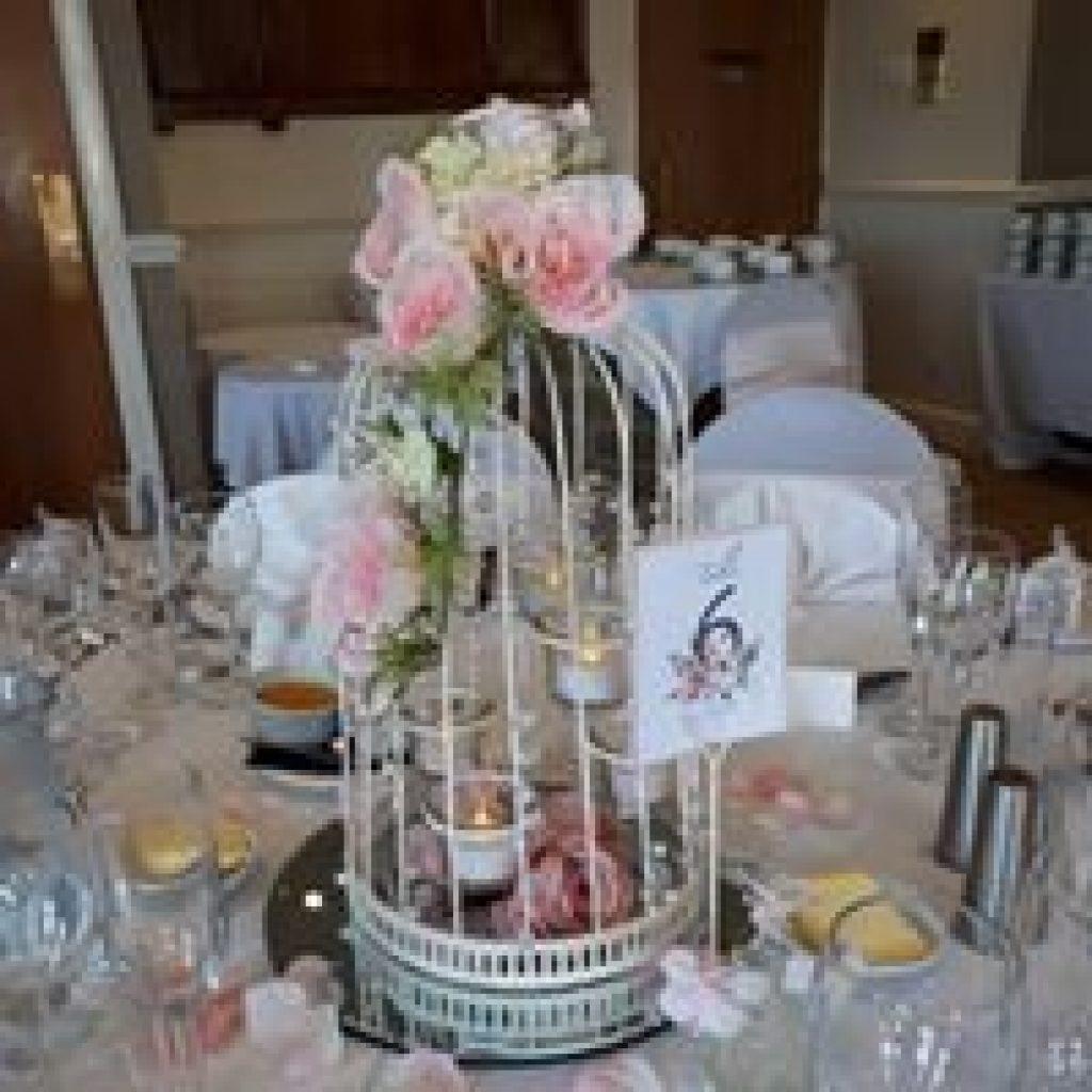 Birdcage centrepiece for wedding