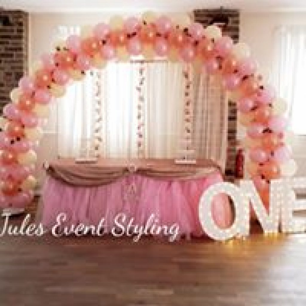 Balloons Arch with backdrop - Childrens Birthday