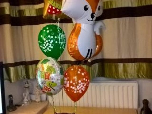 Woodland Themed Balloon Display