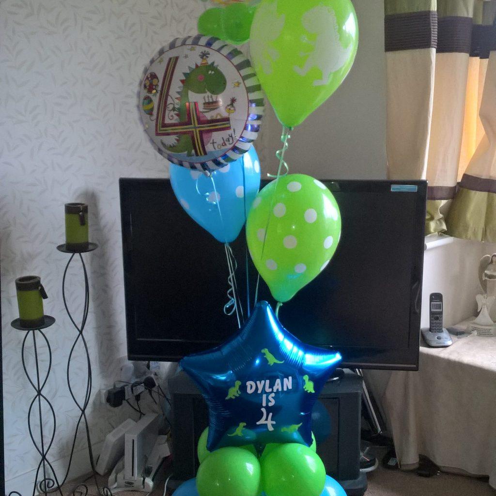 4th Birthday Balloon Display